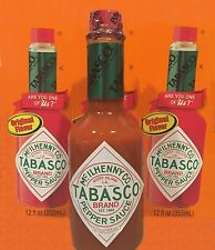 TABASCO 2 BOTTLES x 12oz  SPICY PEPPER HOT SAUCE ORIGINAL FLAVOR