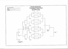 "Large Blank 16-team Double Elimination Tournament Chart 36"" x 24"""