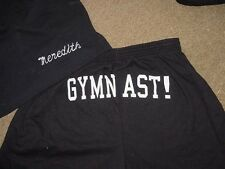 Personalized Black Gymnast Printed Butt shorts Ladies Adult Competition