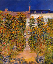 Beautiful Oil painting Claude Monet - The Artist's Garden at Vetheuil children