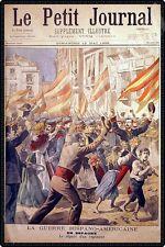 GUERRE HISPANO-AMERICAINE départ ACCIDENT DE VOITURE 1898 Le Pt Journal N°399