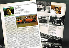 PHIL HILL GRAND PRIX F1 Formula One f-1 HISTORY Article/Photos/Pictures