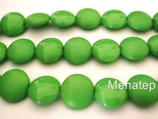 4(Four)  14mm Cushion Round Beads: Pop - Harlequin