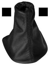 Soufflet de levier vitesse noir 100% CUIR coutures noires pour PEUGEOT 307