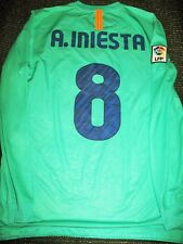 Authentic Iniesta Barcelona 2010 2011 Jersey Shirt Camiseta Spain Maglia L