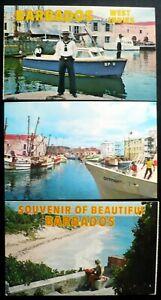 3, 1950s+ Barbados BWI Bridgetown Careenage & Trawlers, Harbor Police, Beach Bea