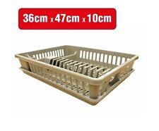 Plastic Dish Rack Plate Drying Cutlery Holder Drainer Set Brand New White, Beige