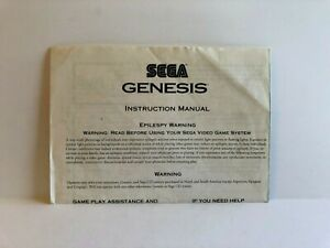 Sega Genesis Instruction Manual Foldout INSERT ONLY Authentic