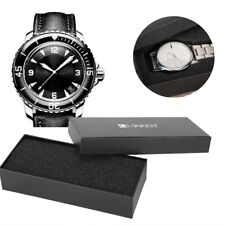 Luxury Black Compact Wrist Watch Display Box Gift Packaging Storage Case Quality