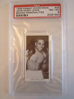 1938 JOHN HENRY LEWIS BOXING CHURCHMAN PSA GRADED 8 NM-MINT CARD
