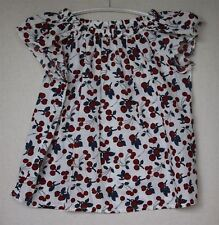 BONPOINT GIRLS CHERRY PRINT EULALIE BLOUSE TOP 4 YEARS