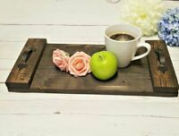 Rustic serving tray black handmade reclaimed coffee table reclaimed wood palle