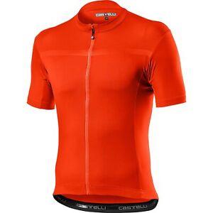 Castelli Classifica Bicycle Cycle Bike Jersey Brilliant Orange