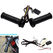 """7/8"""" Motorcycle Handlebar Electric Heated Grips Handle w/ Temp Adjustable Switch"""