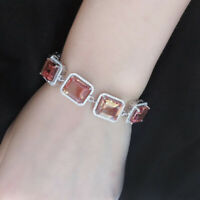 Luxury 925 sterling silver color change sultanit diaspore teenis bracelet women