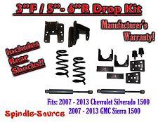 """2007 - 13 Chevy Silverado GMC Sierra 1500 V6 3/5"""" - 3/6"""" DROP KIT Coil SHOCKS"""