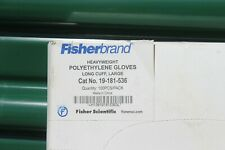100 Per box Fisherbrand Poly Work Gloves Large
