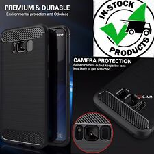 NEW !Galaxy s8/s8Plus Genuine Carbon Fiber Ultra thin Shockproof Silicon Case