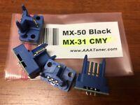 4 x Toner Reset Chip for Sharp MX-4100N, MX-4101N, MX-5000N, MX-5001N (MX-50)
