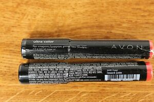 Avon - Ultra Color - Lip Crayon - TWO - 0.098 Oz. - JUST ROSY - NEW