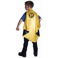 Boys Deluxe Robin Cape Black & Yellow Superhero Cape Kids One Size