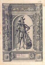Mathias Erzherzog zu Desterreich - Incisione G.B. Fontana, D. Custos 1600