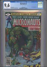 Micronauts #7 CGC 9.6 1979 Marvel Michael Golden & Joe Rubinstein, Man-Thing App