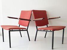MARTIN VISSER,SPECTRUM : PAIRE DE FAUTEUILS 1960 VINTAGE 60's MID-CENTURY CHAIRS