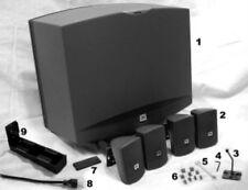 KIT ENCEINTES 4,1 ACTIF 120W PRO JBL SMS 1 AVEC AMPLI POUR PUB /  BAR