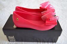 Mini Melissa Girl's Ultragirl Sweet Peep Toe Ballet Flats Pink 12