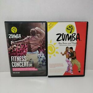 ZUMBA FITNESS CONCERT LIVE DVD + CD Set & Abs, Buns, And Thighs Workout DVD