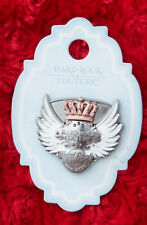 Hard Rock Cafe Pin Key west COUTURE WINGED GUITAR PICK CROWN Angel 3d logo king