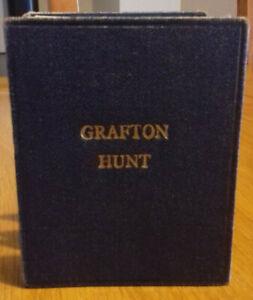 Vintage Grafton Hunt Northants & Buckinghamshire Folding Pocket Map on linen