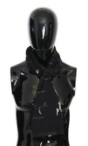 DOLCE & GABBANA Scarf Cashmere Silk Black Floral Wrap Shawl 180cm x60cm RRP $600