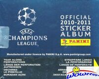 2010/11 Panini Champions League Stickers HUGE 50 Pack Sealed Box-250 Stickers!