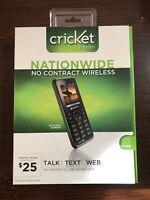 Kyocera Domino S1310 - Black Cricket paygo  Cellular Phone New In Box Sealed NIB