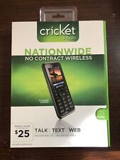 Kyocera Domino S1310 - Black Cricket paygo  Cellular Phone New In Box Sealed NIB