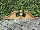 Large Colonial Victorian Style Oak Furniture Arched PEDIMENT Finial Corbel Wall