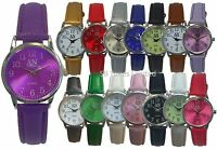 AN Mab London Big Numbers numeric Dial Leather Strap Ladies Wrist Watches-AN8731