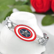 "US Movie Marvel Comics""Captain America""Sign Hero Man's Metal Chain Bracelet COOL"