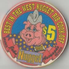 NUGGET 1992 BEST IN THE WEST RIB COOK OFF  SPARKS  $5   CASINO CHIP