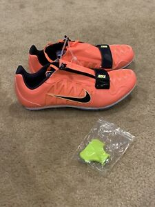 Mens 6 Bright Mango Nike Zoom LJ Long Jump Field Shoes New