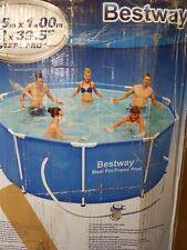 Bestway Steel Pro Frame Pool 305 x 100 cm blau mit Filterpumpe