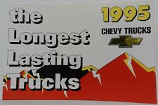 SILVERADO PICKUP TRUCK S-10 NOS 95 PROMO 1995 CHEVY DEALER DEALERSHIP POSTCARD