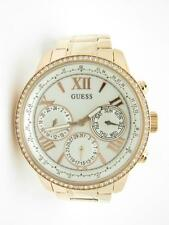 Guess U0559L3 Rose Tone Swarovski Crystal Bezel Chronograph Date Dial Watch Gift
