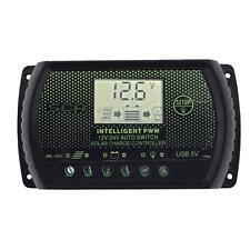 Contrôleur charge batterie Panel PWM LCD solaire Regulateur 12V 24V Auto 10A EH