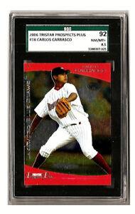 Carlos Carrasco 2006 Tristar Prospects Plus 18 RC SGC 92 NM/MT+ 8.5 MiLB Indians