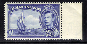Cayman Islands 1938 - 48 KGV1 2 1/2d Bright Blue Umm SG 120 ( B346 )