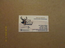 CHL Laredo Bucks Vintage Defunct Hockey Business Card
