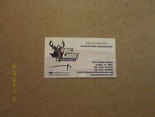 CHL Laredo Bucks Vintage Defunct Hockey Business Card